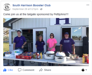 South Harrison High School Booster Club Tailgate