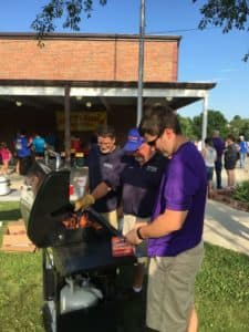 south harrison elementary school cooking hotdogs