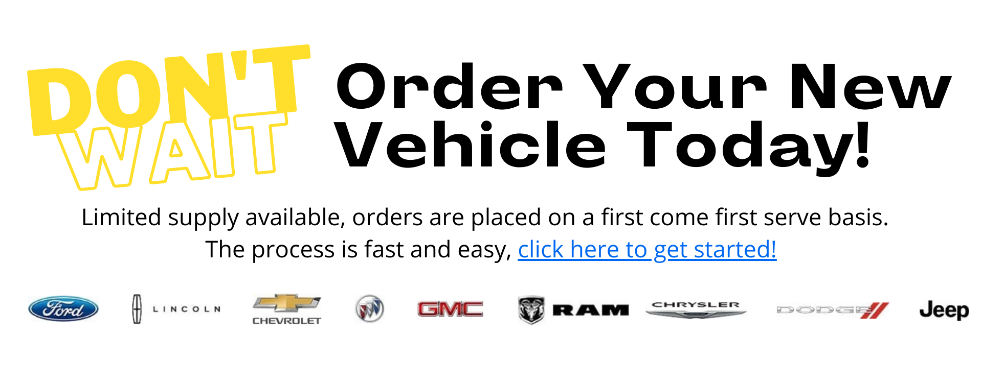 1920 by 750 Order Your Vehicle Banner
