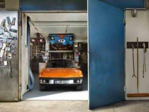 Porsche Classic in garage