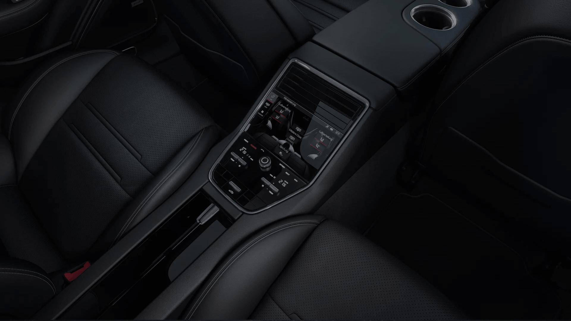 Panamera front seat interior