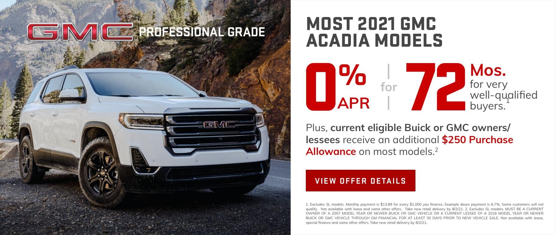 2021 Acadia APR
