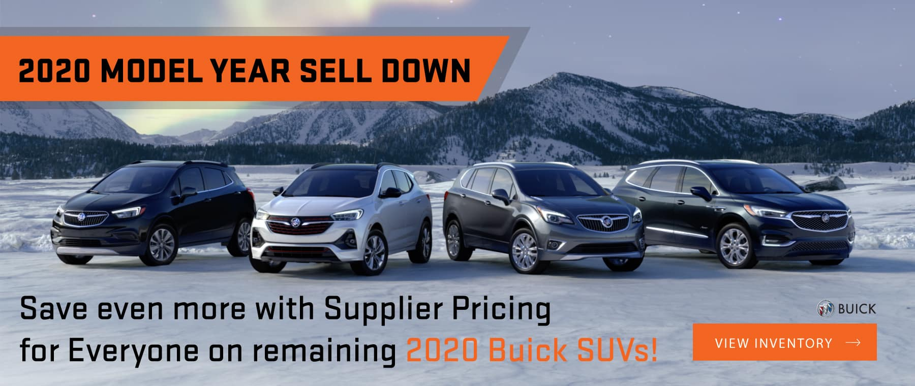 2020 Buick Model Year End Sell Down