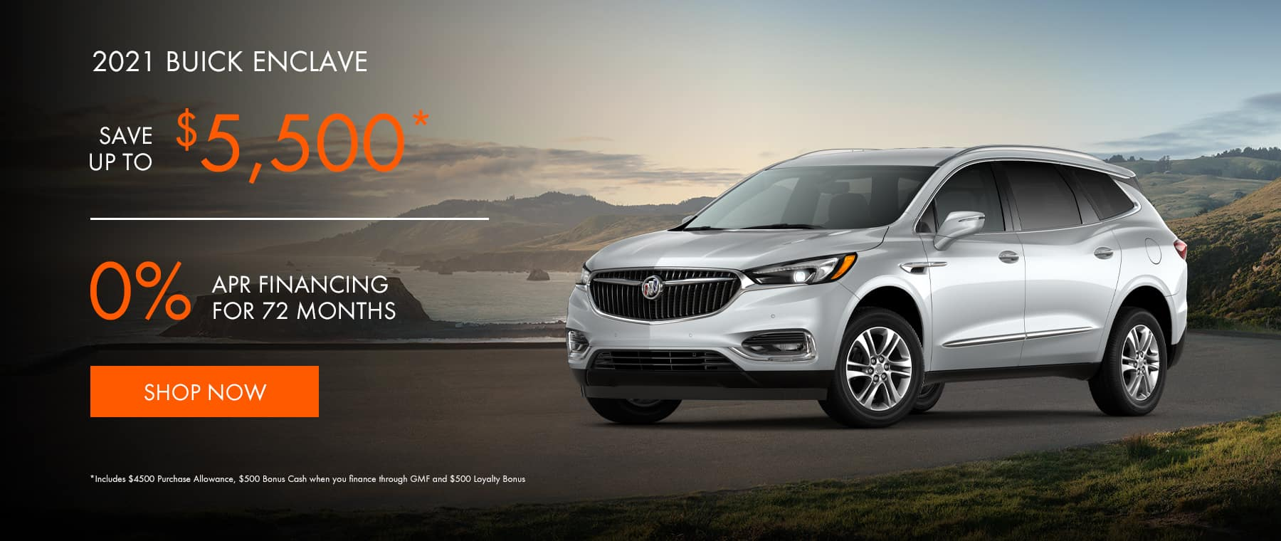 2021 Buick Enclave - ave up to $5,500* OR Get 0% Financing for 72 months