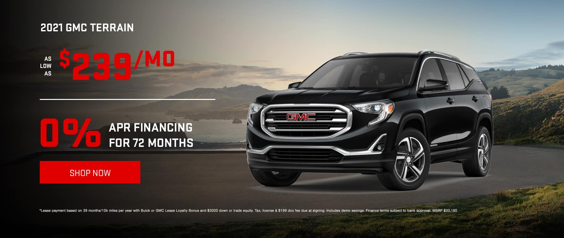 2021 GMC Terrain - As low as $239/mo OR 0% Financing for 72 months