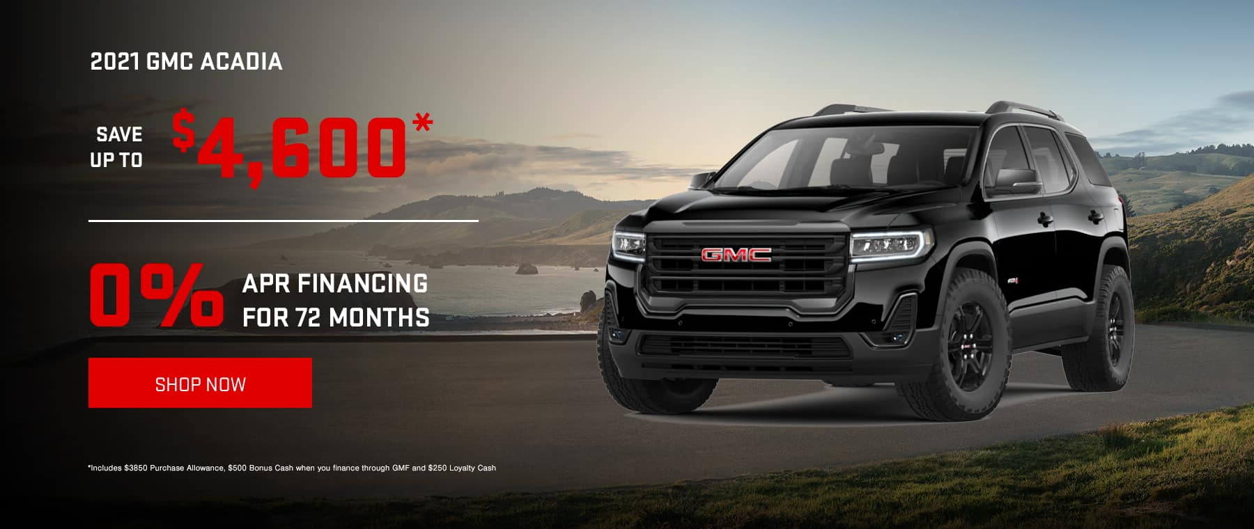 2021 GMC Acadia - Save up to $4600* OR Get 0% Financing for 72 months