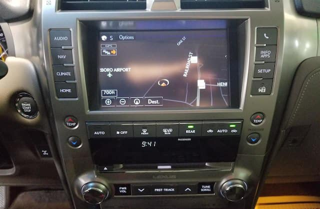 2014 Lexus Enform Touchscreen