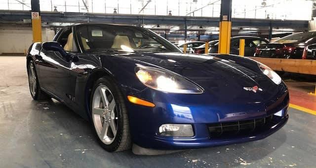 2005 Blue Corvette