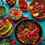 colorful latin food mix