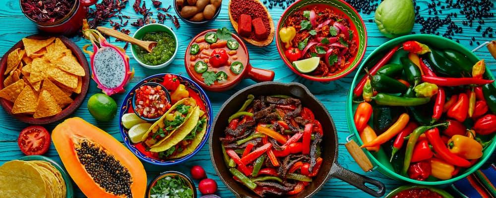 colorful latin food mix