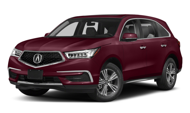 2018 acura mdx red