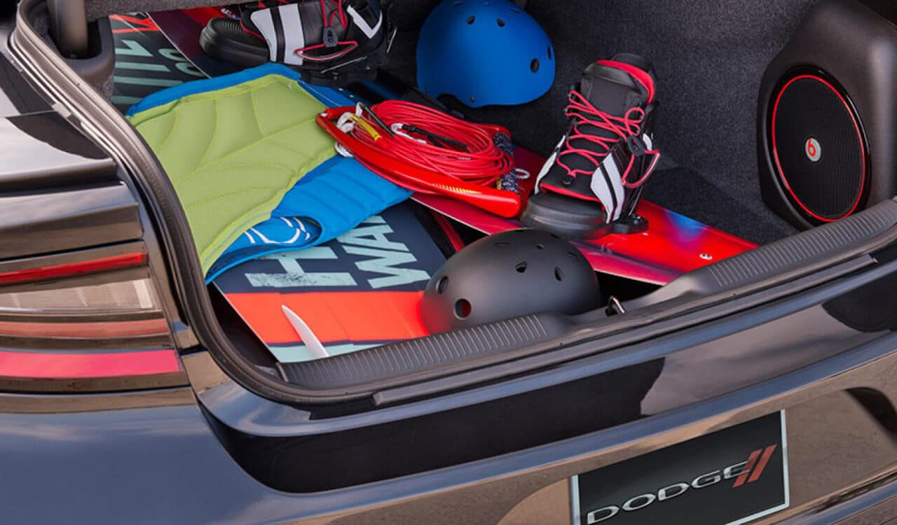 2017 Dodge Charger Trunk Space and Beats Speaker