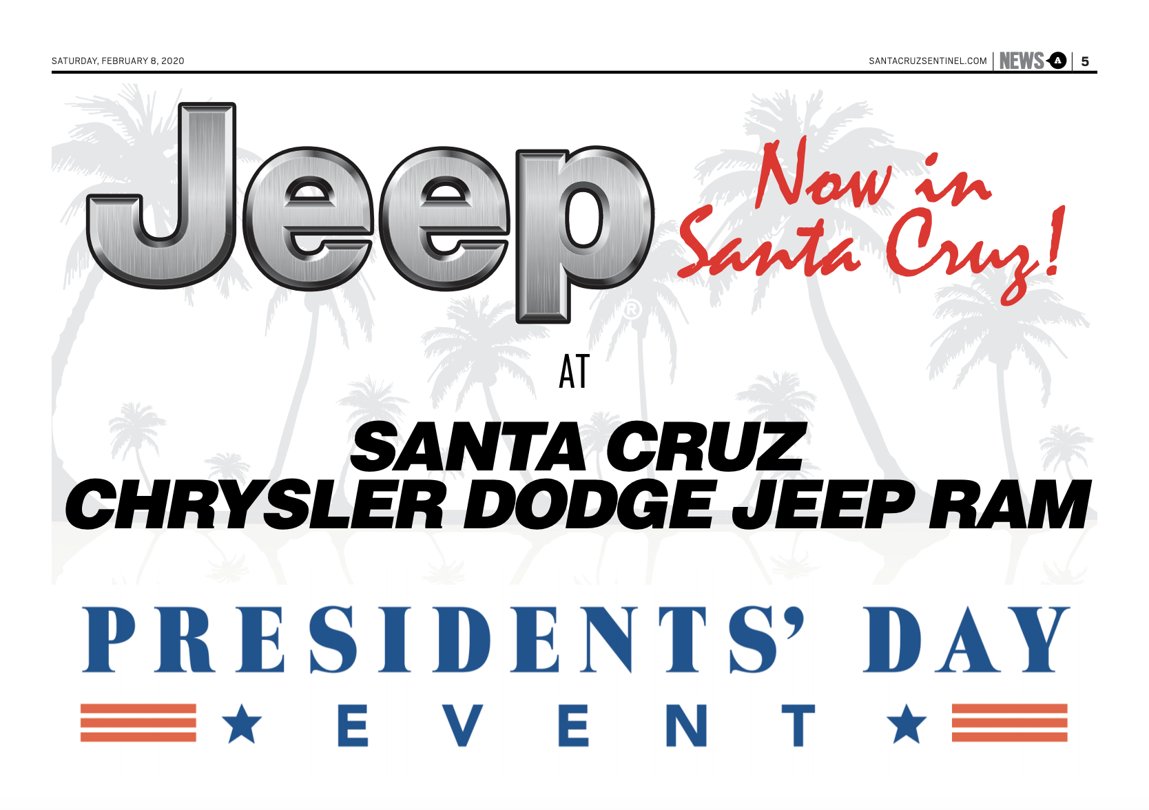Presidents' Day Sales Event