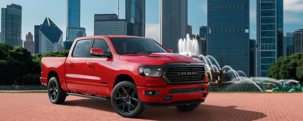 2020 Ram 1500 Parked by Fountain