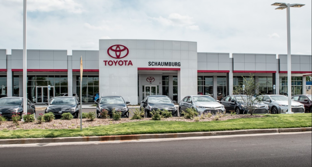 Schaumburg Toyota dealership storefront