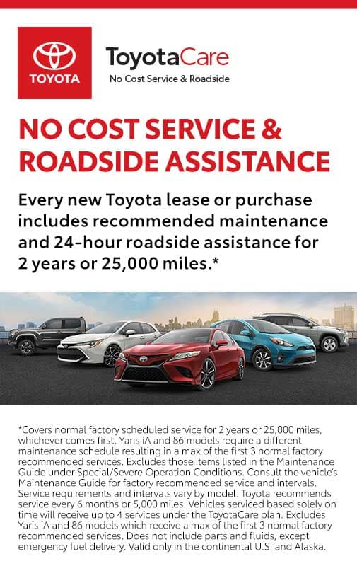 Toyotacare Roadside Assistance Number >> No Cost Service And Roadside Assistance Toyota Care Schaumburg Toyota