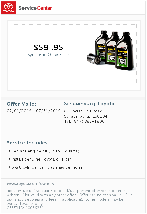 Synthetic Oil and Filter