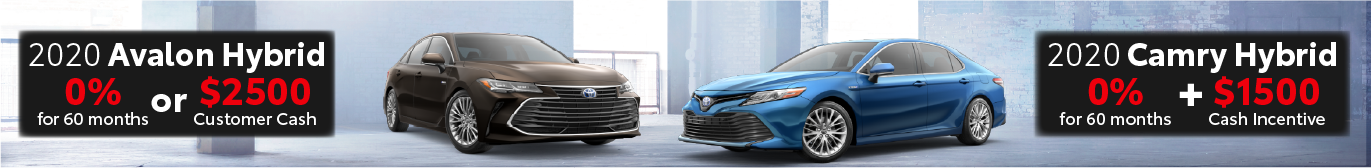 Schaumburg Toyota 0% offer on Avalon Hybrid and Camry Hybrid