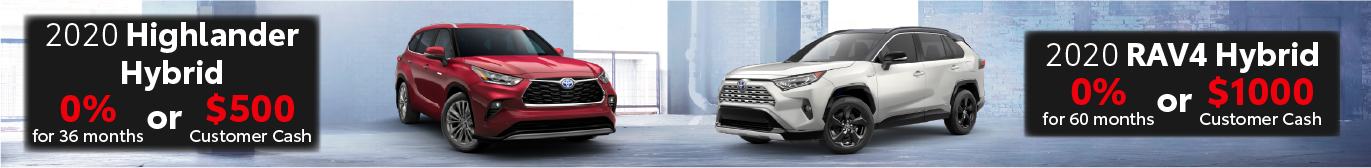 Schaumburg Toyota 0% offer on RAV4 Hybrid and Highlander Hybrid
