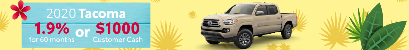 Schaumburg Toyota Tacoma APR and Cash Offer