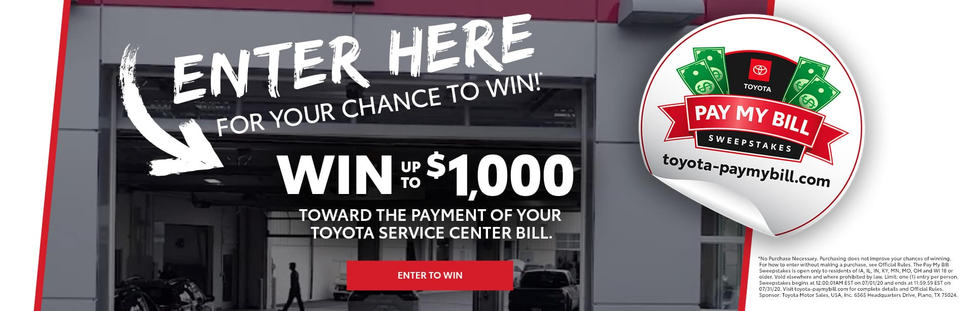 Schaumburg Toyota Pay My Bill Sweepstakes