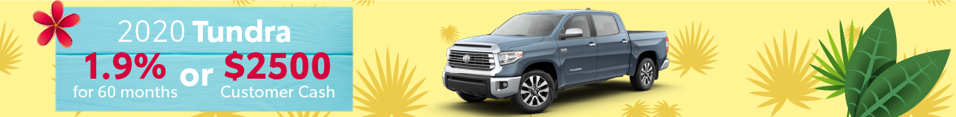 Schaumburg Toyota Tundra APR and Cash Offer
