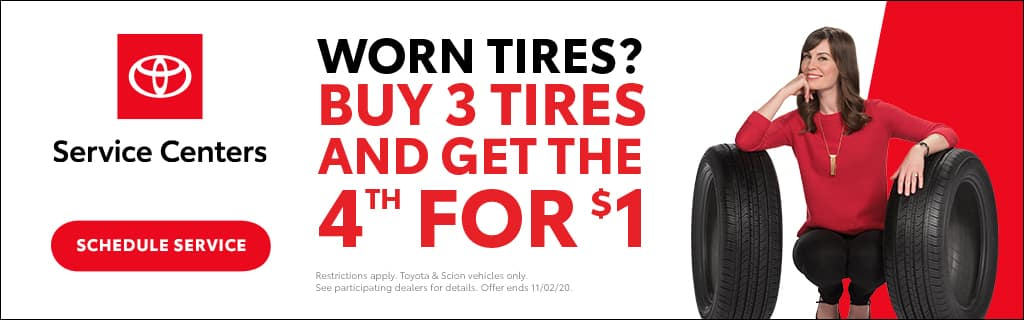 Schaumburg Toyota Buy 3 Tires and Get the 4th for $1