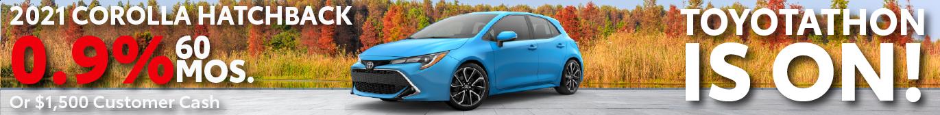Schaumburg Toyota Corolla Hatchback 0.9% APR Special