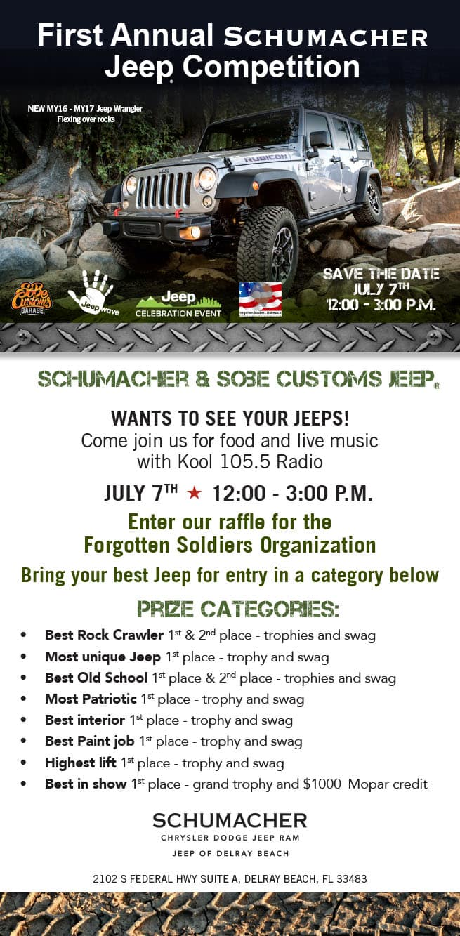 First Annual Schumacher Jeep Competition