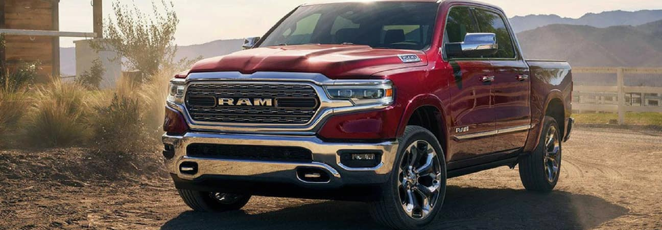 2019 RAM 1500 parked at ranch