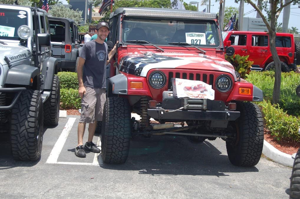 The Jeep competition event as Schumacher Chrysler Dodge Jeep RAM of Delray in Delray Beach, FL, on July 7, 2018.