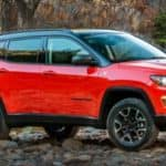 2019 Jeep Compass near river