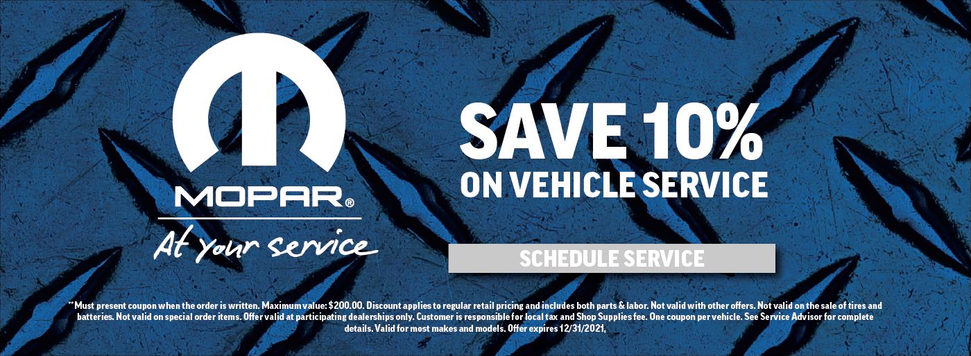 vehicle service CTA update
