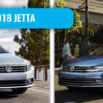 The 2018 Volkswagen Passat (left) and the 2018 Volkswagen Jetta (right).