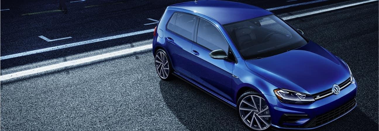 2019 VW Golf R blue