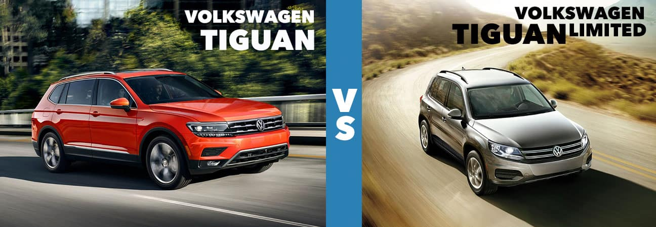 Left: Volkswagen Tiguan. Right: Volkswagen Tiguan Limited