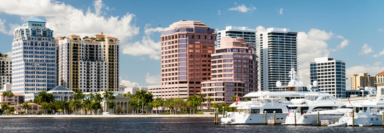 Downtown West Palm Beach near Wellington, FL