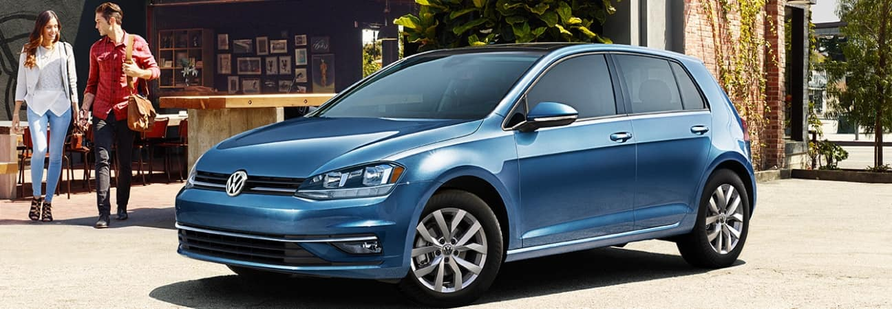 Blue 2019 Volkswagen Golf