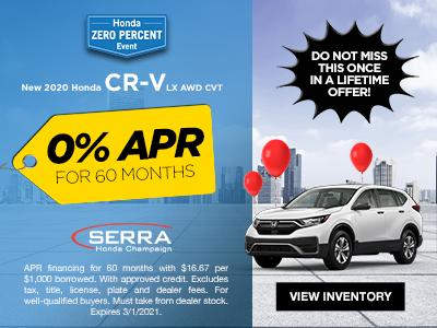New 2020 Honda CR-V LX AWD CVT