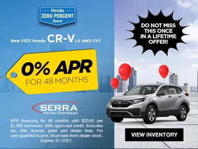 New 2021 Honda CR-V LX AWD CVT