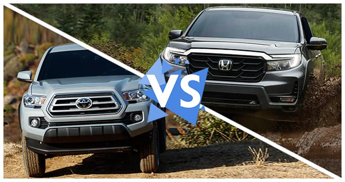2021 Ridgeline vs 2021 Tacoma Comparison