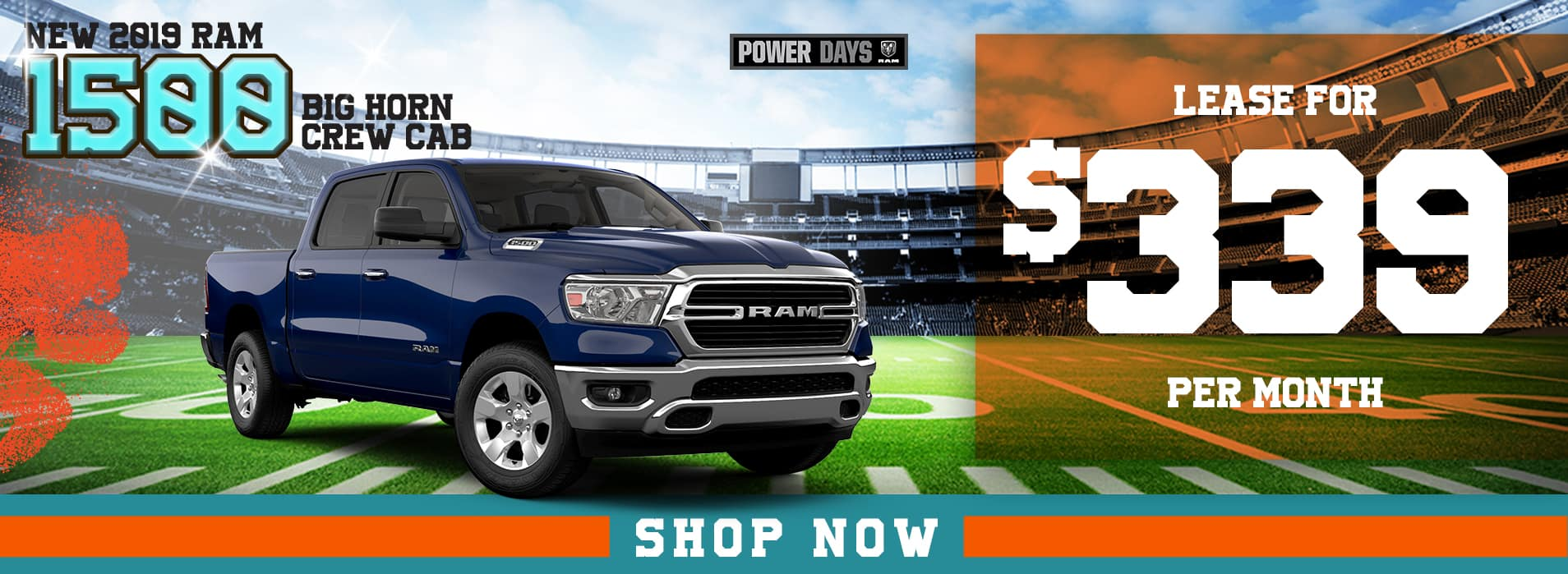 RAM 1500 Big Horn | Lease for $339 per month