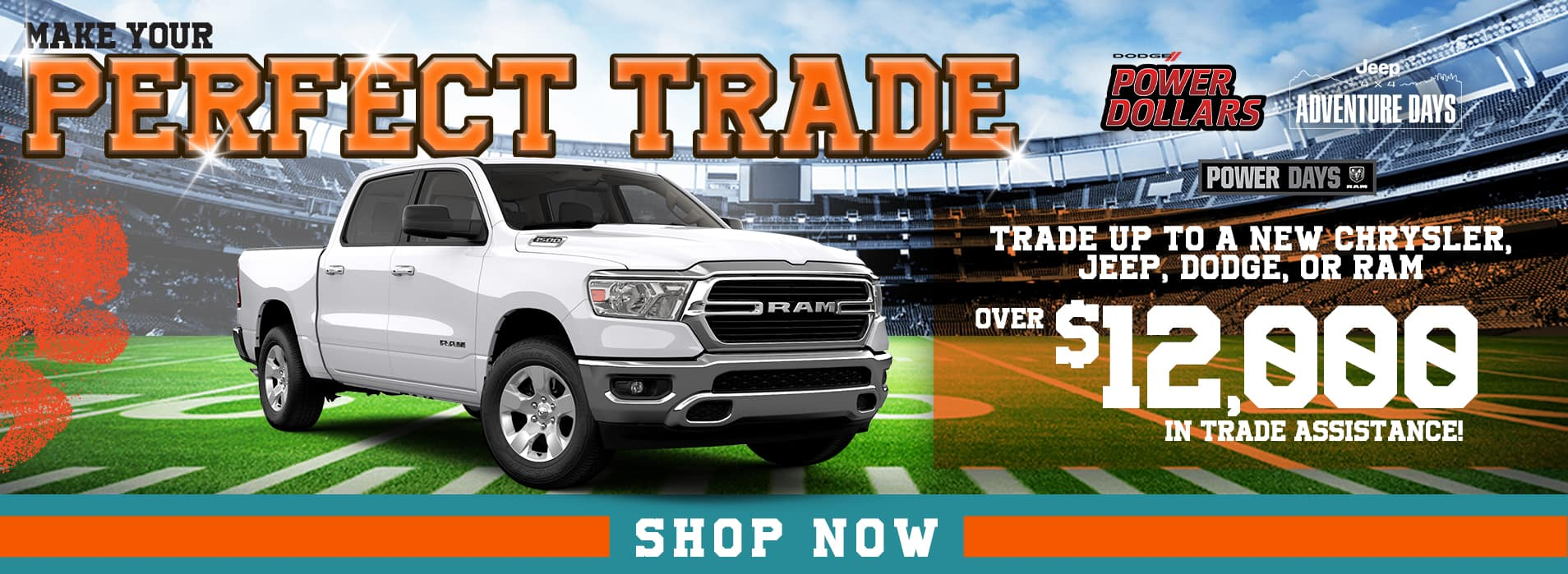 Get over $12,000 in trade assistance at Spitzer CDJR in Homestead