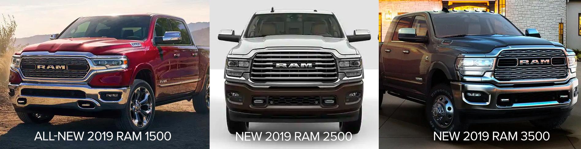 2019 Ram 1500 vs 2500 vs 3500 Chicago IL