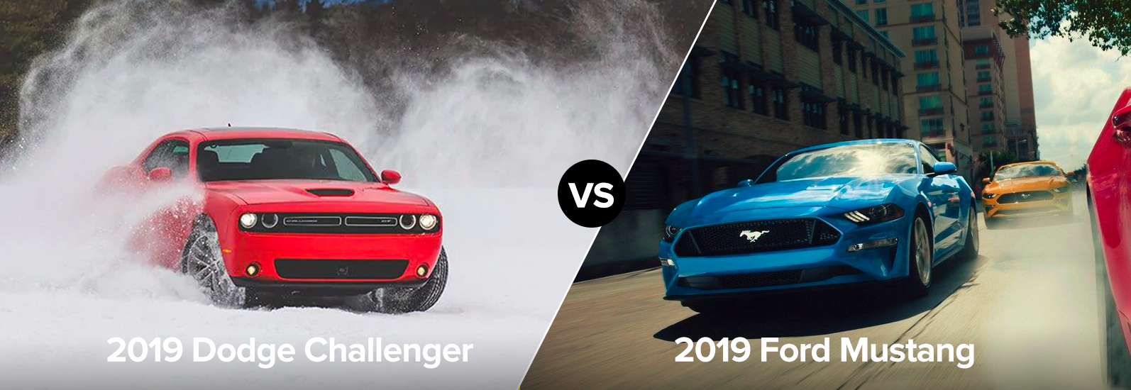 2019 Dodge Challenger vs 2019 Ford Mustang Exterior Chicago IL