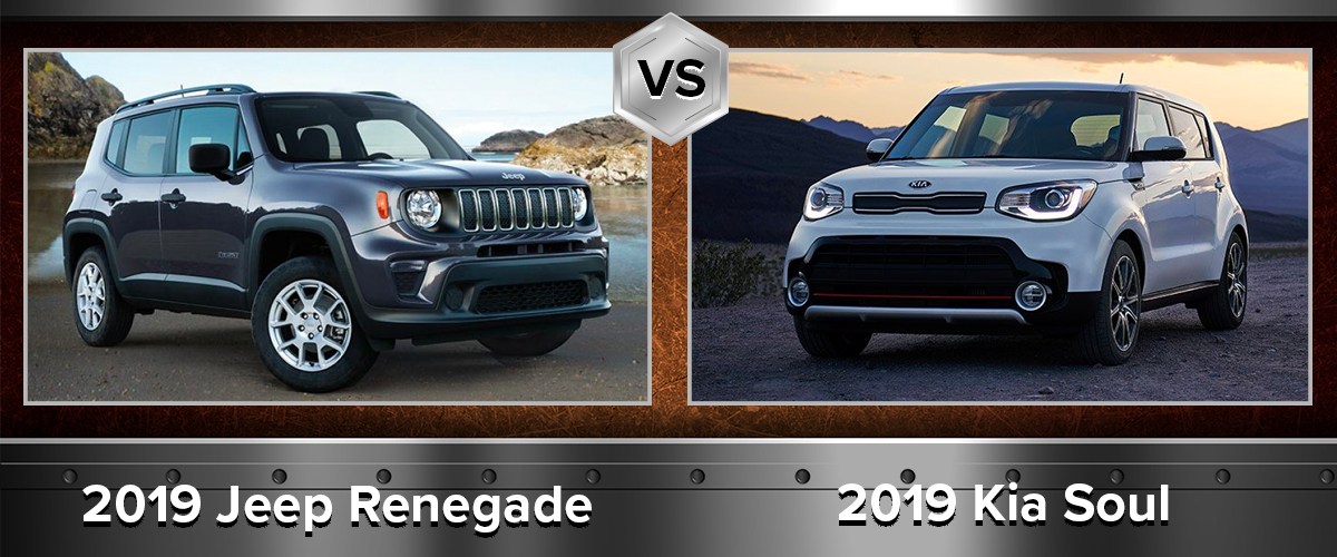 Compare the Exterior in the 2019 Jeep Renegade vs 2019 Kia Soul Chicago IL