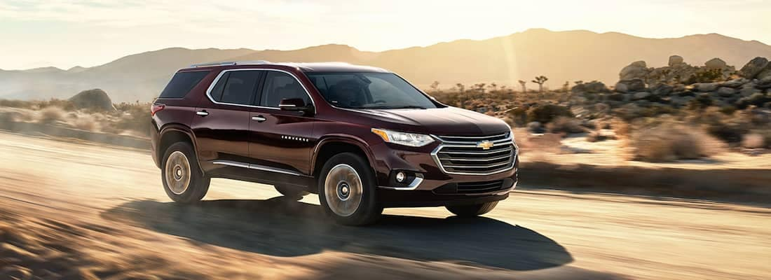 2018 Chevy Traverse Driving