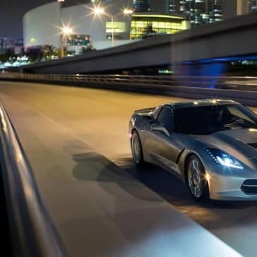 2019 Chevy Corvette Stingray At Night