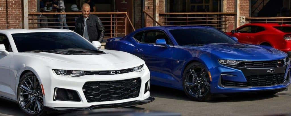 2019 Chevrolet Camaros lined up