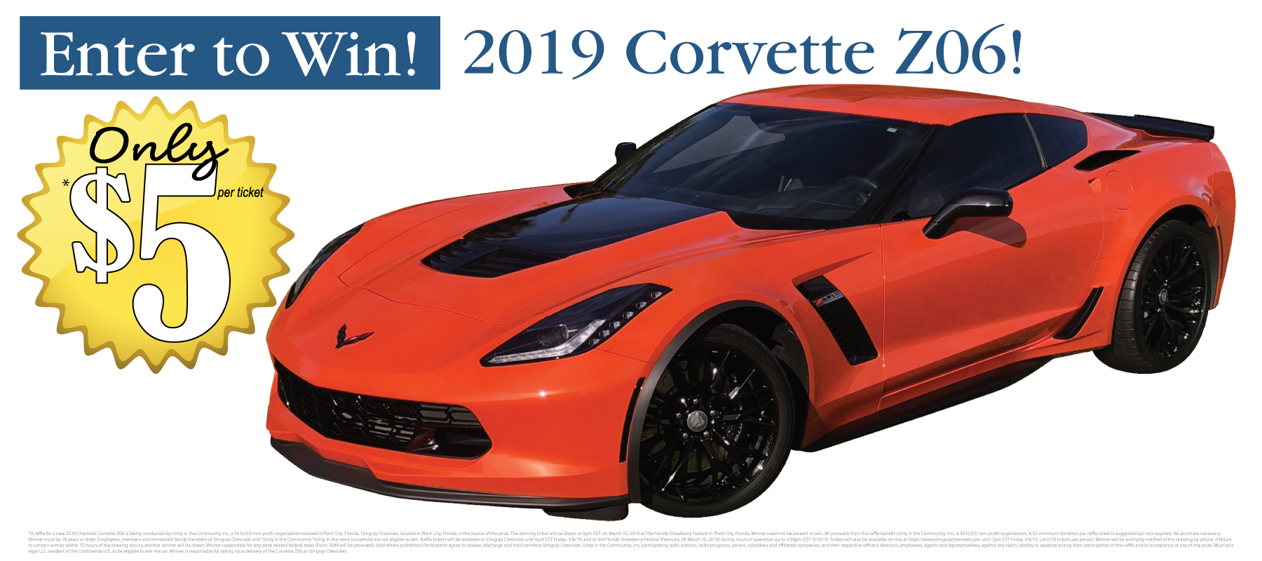 2019 Chevrolet Corvette Z06 Raffle L Plant City Fl